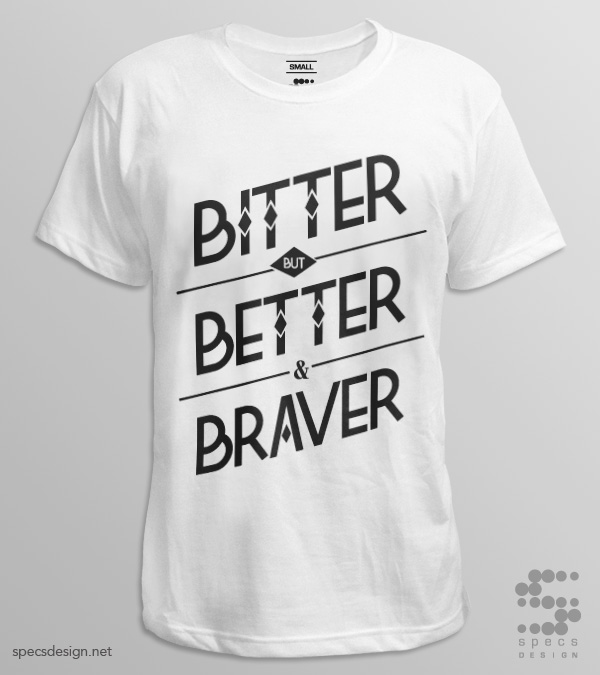 bitter better tshirt john 16 33 white tshirt by specs design