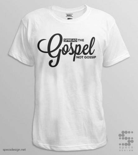 spread the gospel tshirt specs design